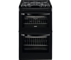 ZANUSSI ZCG43010BA Gas Cooker - Black