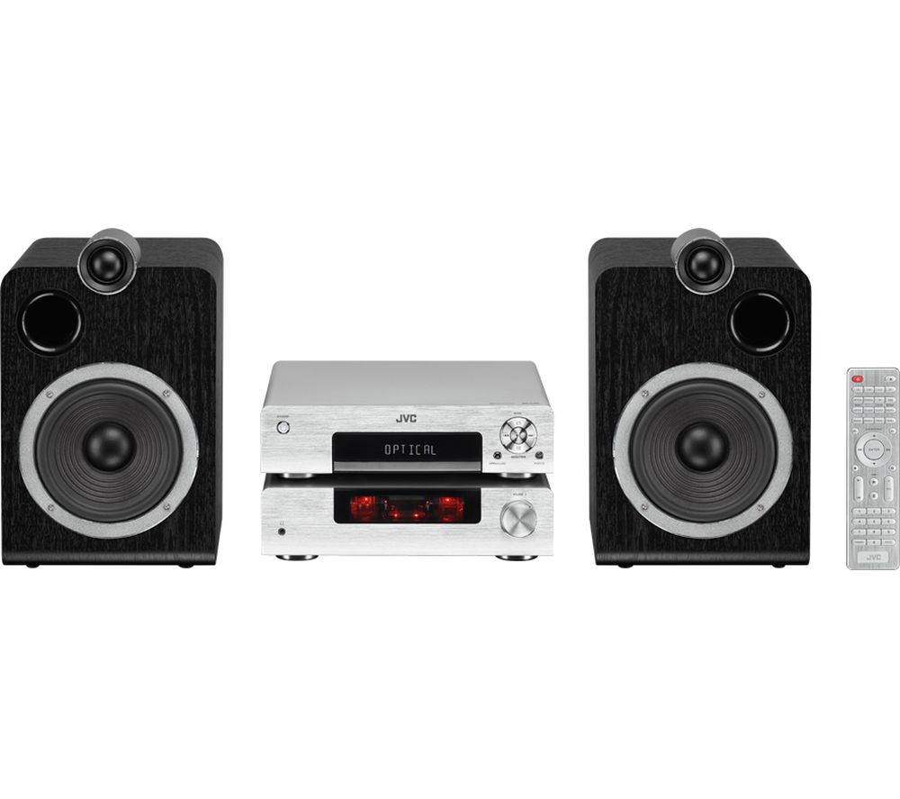 jvc ux d457s wireless traditional hi fi system silver. Black Bedroom Furniture Sets. Home Design Ideas