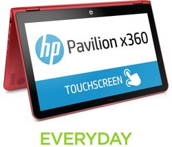 "HP Pavilion x360 15-bk152sa 15.6"" 2 in 1 - Red"