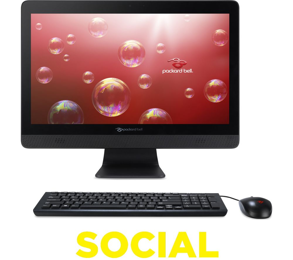 """PACKARD BELL One Two Series oTS3481 19.5"""" All-in-One PC + Office 365 Home + LiveSafe Unlimited 2017 - 1 year"""