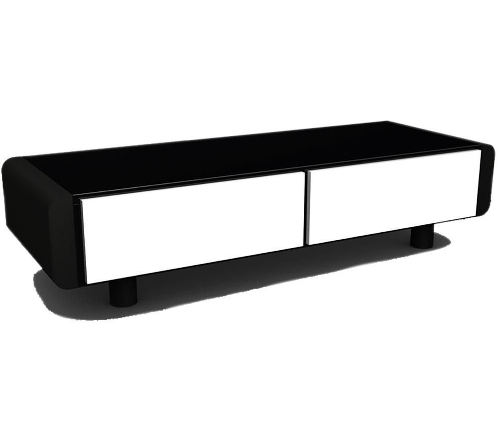 buy schnepel elf lowboard 120 tv stand black white free delivery currys. Black Bedroom Furniture Sets. Home Design Ideas