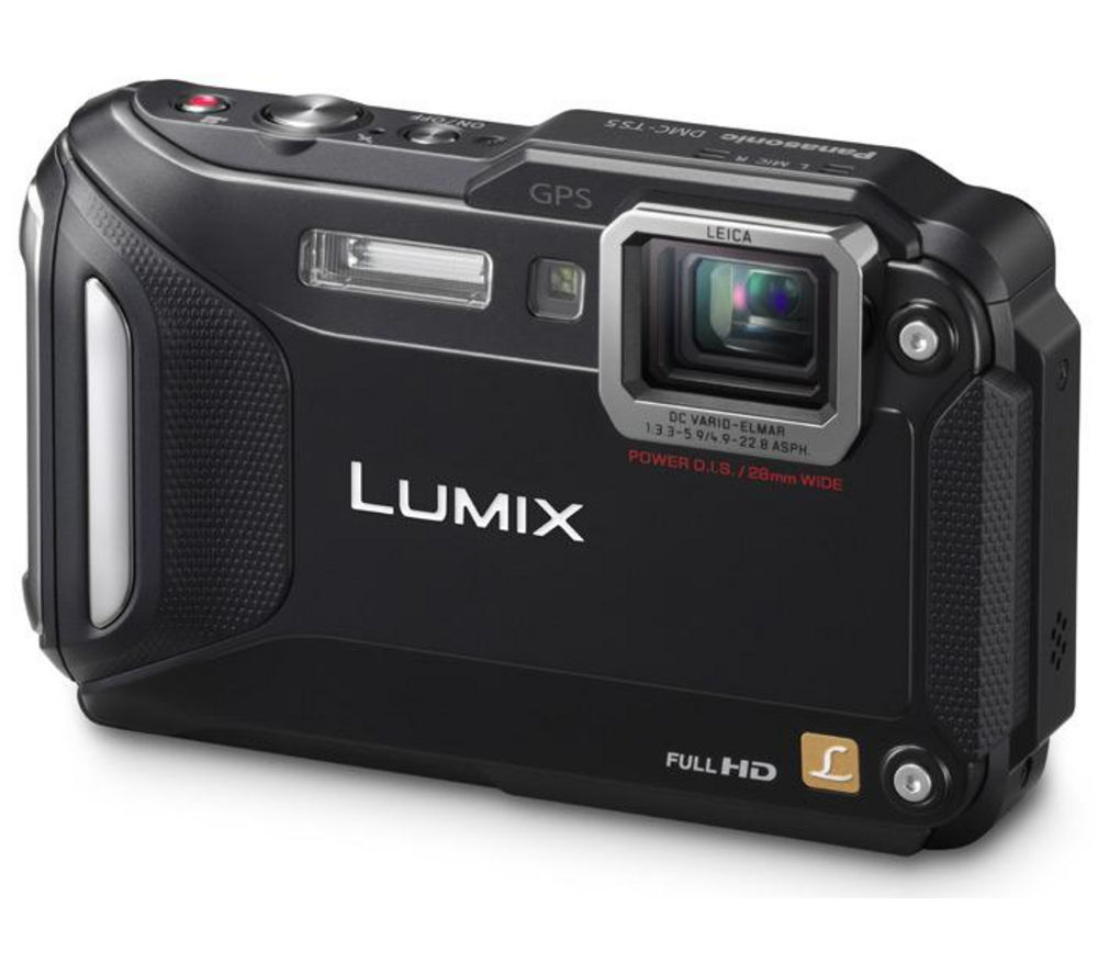 PANASONIC  Lumix DMC-FT5 Tough Compact Camera - Black +  Hard Shell Camera Case - Black
