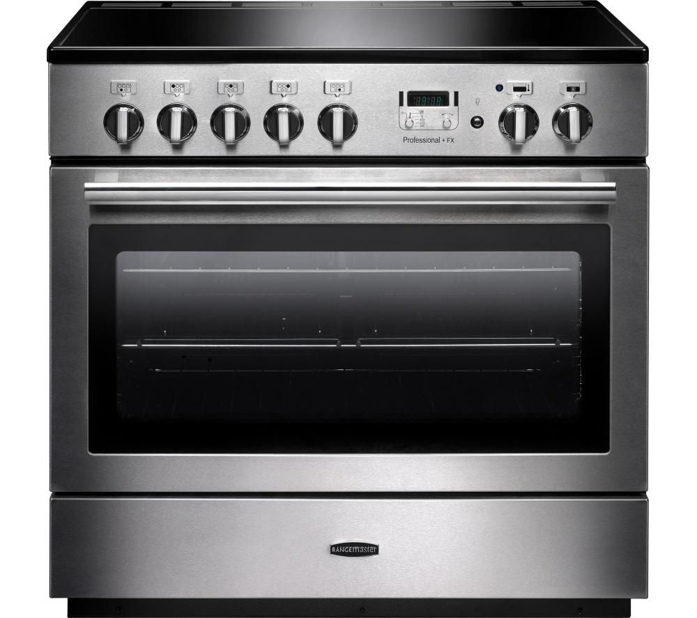 RANGEMASTER Professional+ FX 90 Induction Range Cooker - Stainless Steel & Chrome