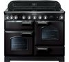 RANGEMASTER Classic Deluxe 110 Electric Induction Range Cooker - Black & Chrome