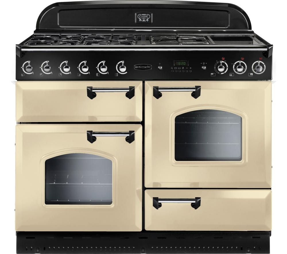 buy rangemaster classic 110 lpg range cooker cream. Black Bedroom Furniture Sets. Home Design Ideas