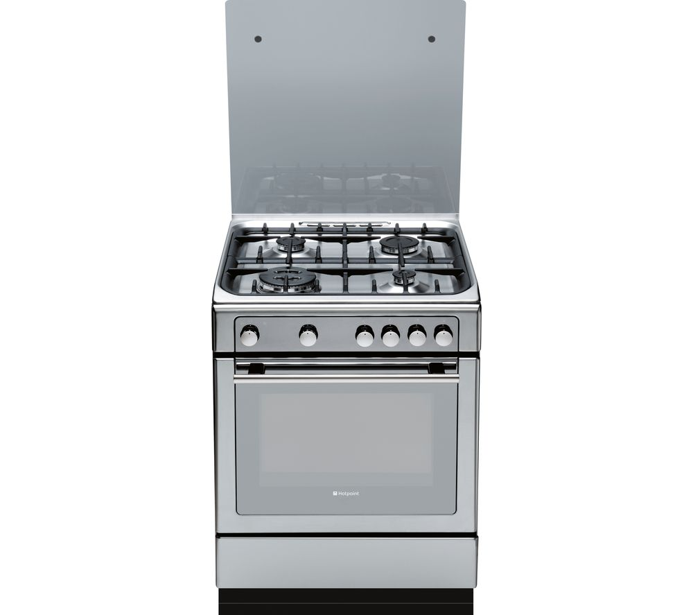 HOTPOINT  DHG65SG1CX Gas Cooker  Stainless Steel Stainless Steel