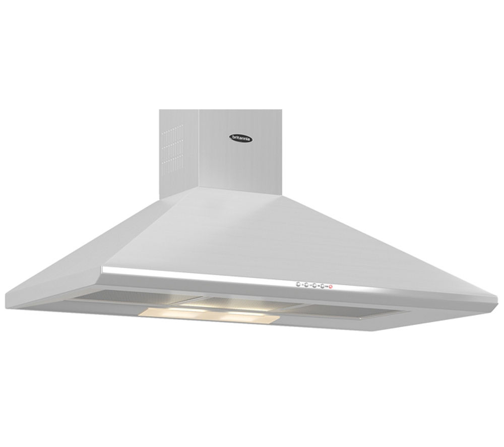BRITANNIA  Brioso K24090S Chimney Cooker Hood  Stainless Steel Stainless Steel