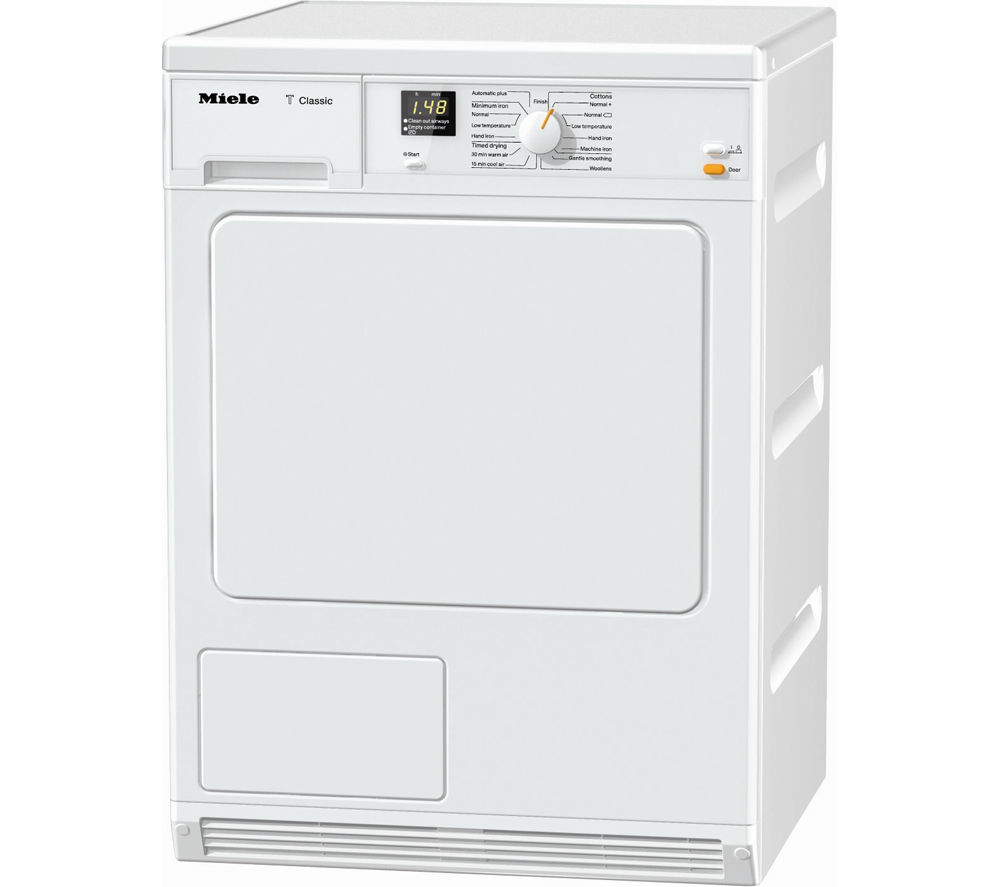 Miele TDA140C Condenser Tumble Dryer - White, White
