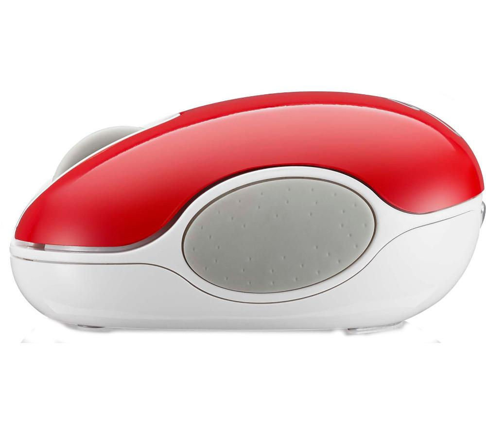 GOJI GMWLRD15 Wireless Blue Trace Mouse - Red