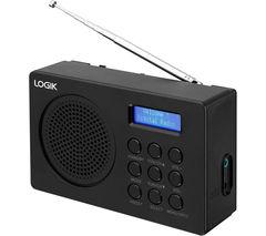 LOGIK L2DAB16 Portable DAB/FM Radio - Black