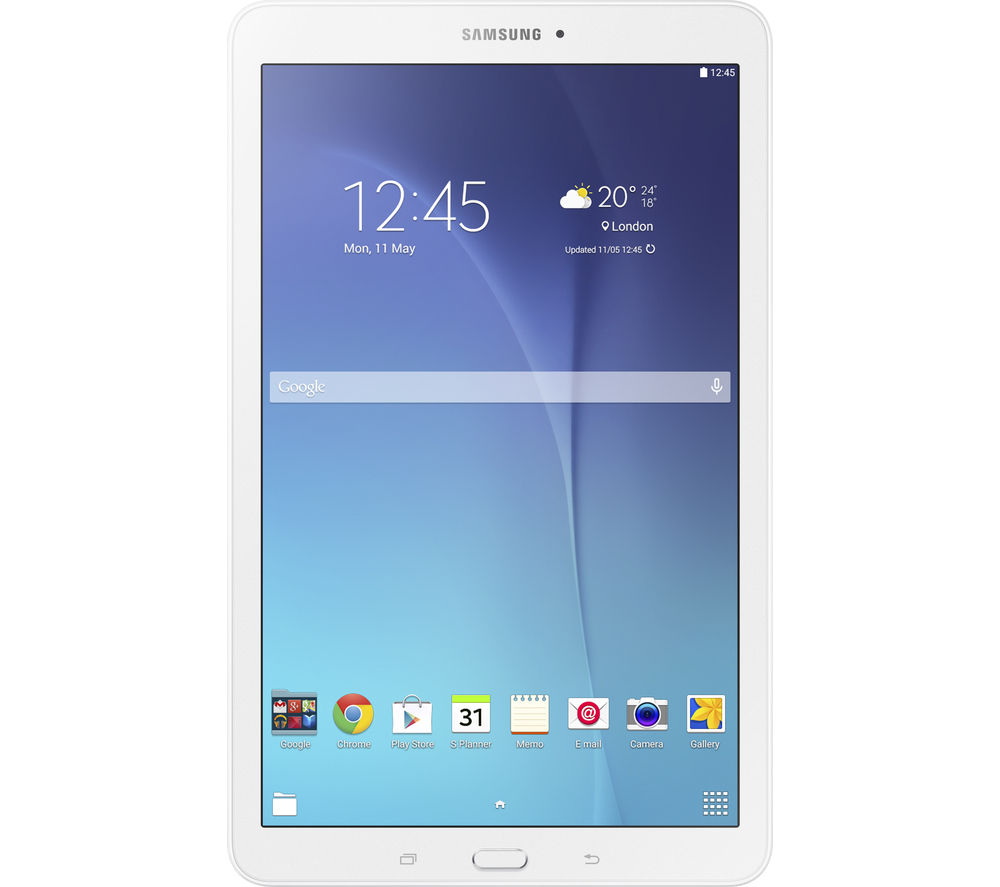 Samsung Galaxy Tab E 9.6 Tablet  8 GB White White