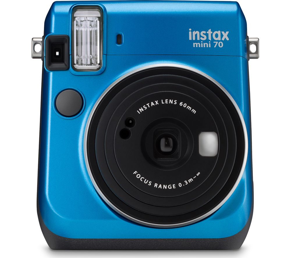 FUJIFILM Instax Mini 70 Instant Camera - 10 Shots Included, Blue