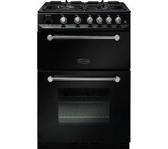 RANGEMASTER Kitchener 60 cm Gas Cooker - Black & Chrome