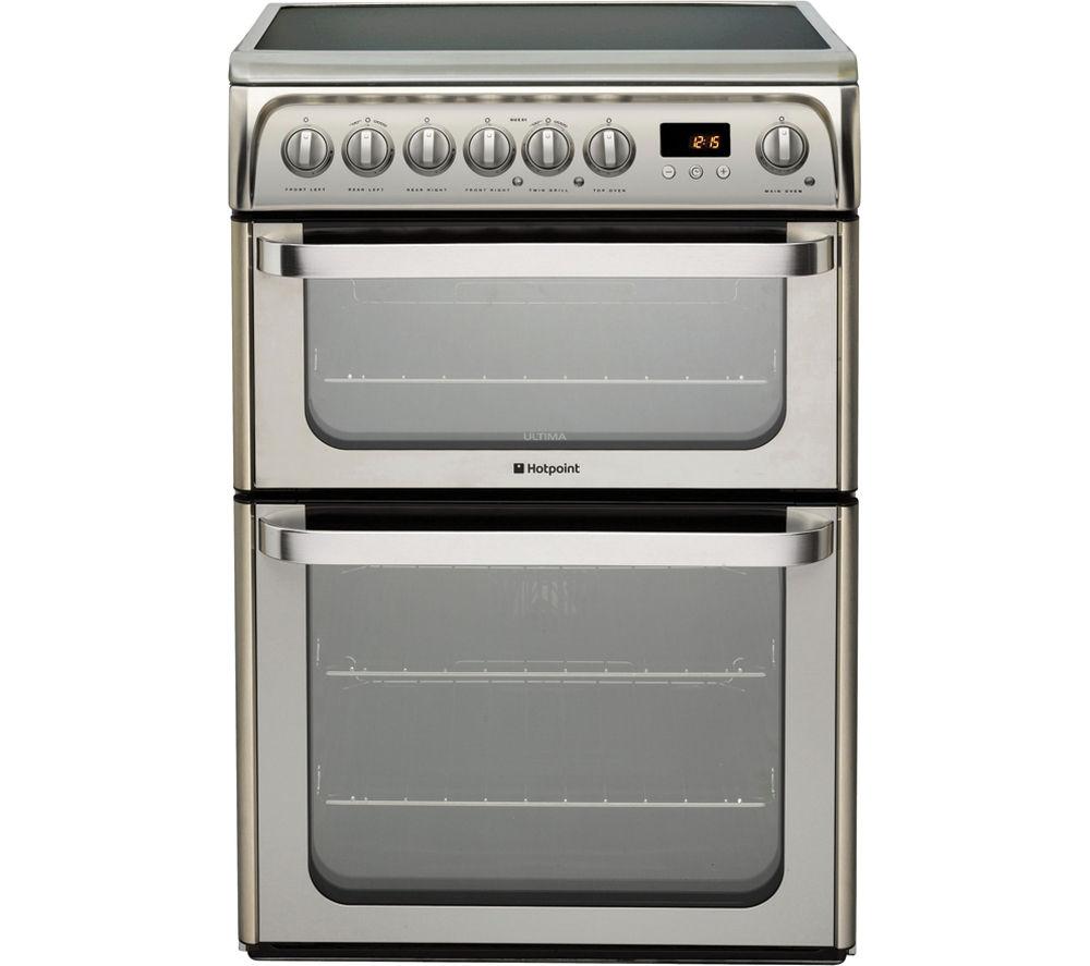 HOTPOINT  HUE61XS Electric Ceramic Cooker  Stainless Steel Stainless Steel