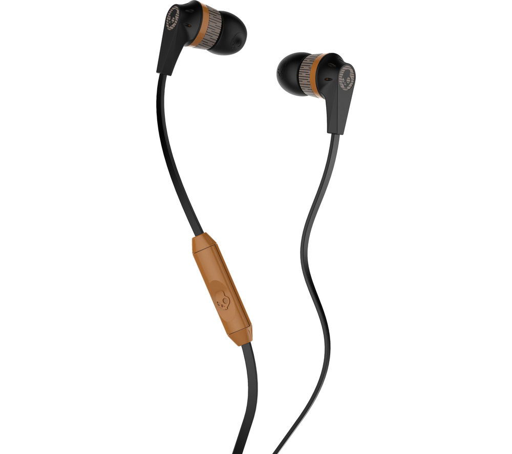 SKULLCANDY  Ink'd 2.0 Headphones - Black & Tan, Black