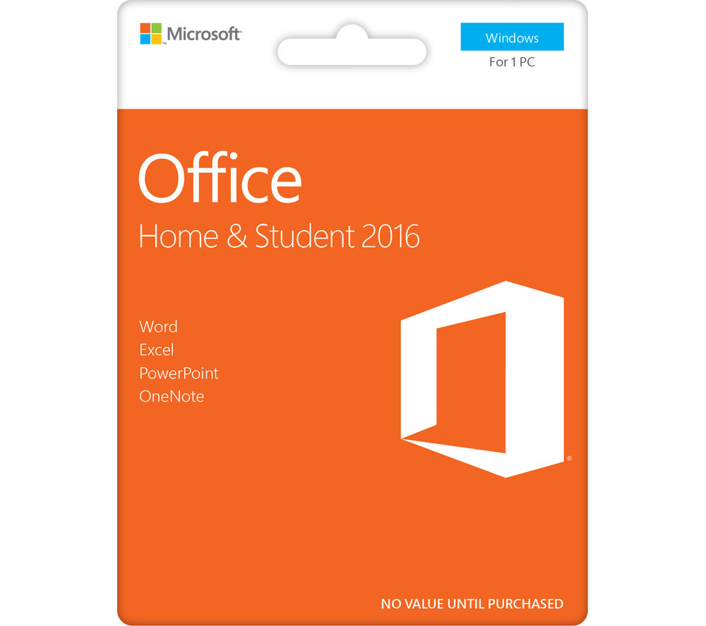 Microsoft Office is available in two ways: a one-time purchase of a specific version, and as a subscription service. For the Student one-time purchase version, you will get Microsoft Office Word, Excel, PowerPoint and OneNote. The Home & Business version has those listed above, plus Outlook.