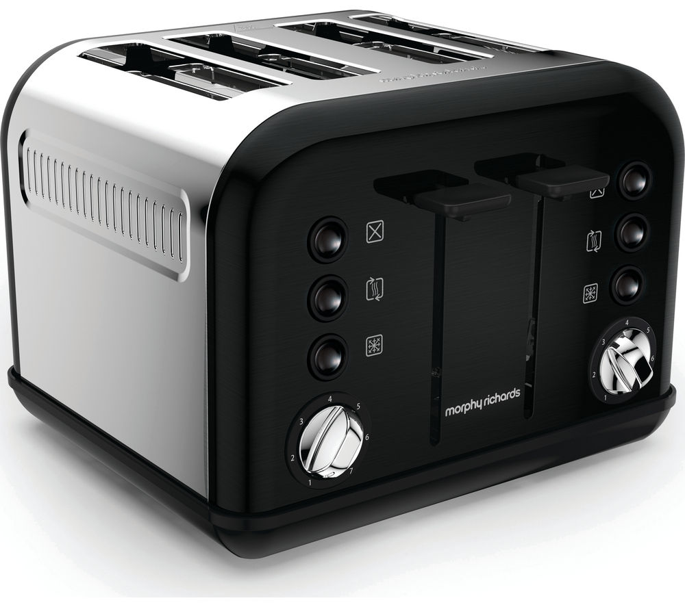 4 Slice Toaster ~ Buy morphy richards accents slice toaster black