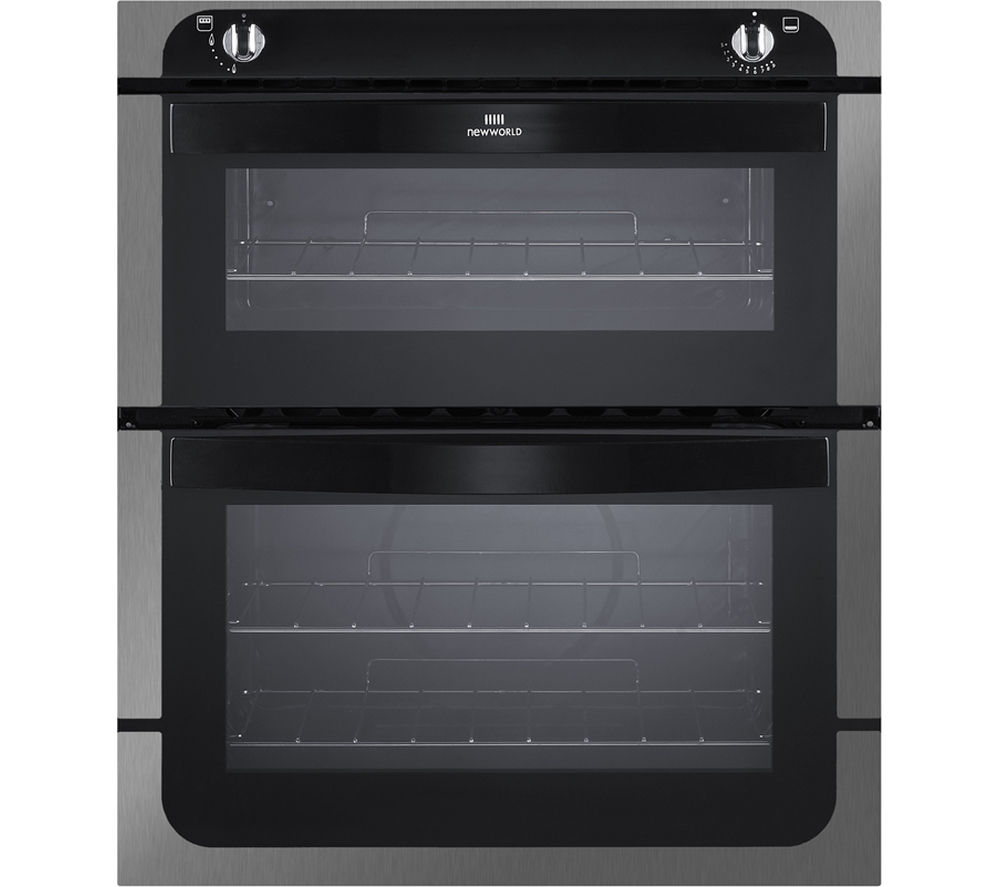 New Wld NW701G Gas Builtunder Oven  Black & Stainless Steel Stainless Steel