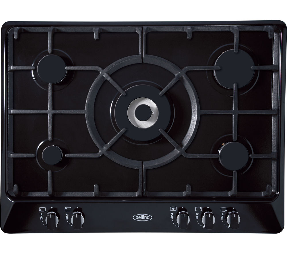 BELLING  GHU70GC Gas Hob  Black Black