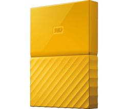 WD My Passport Portable Hard Drive - 2 TB, Yellow