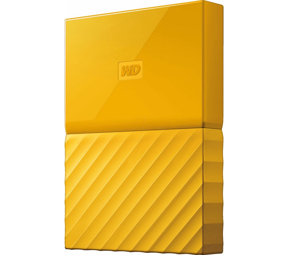 WD My Passport Portable Hard Drive - 2 TB, Yellow