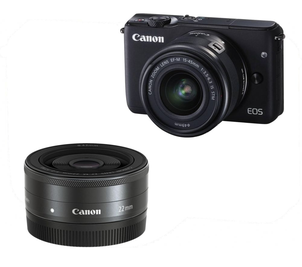 canon eos m10 compact system camera wide angle zoom lens. Black Bedroom Furniture Sets. Home Design Ideas