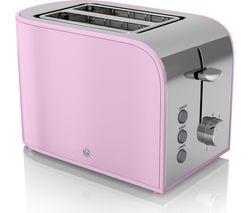SWAN Retro ST17020PN 2-Slice Toaster - Pink