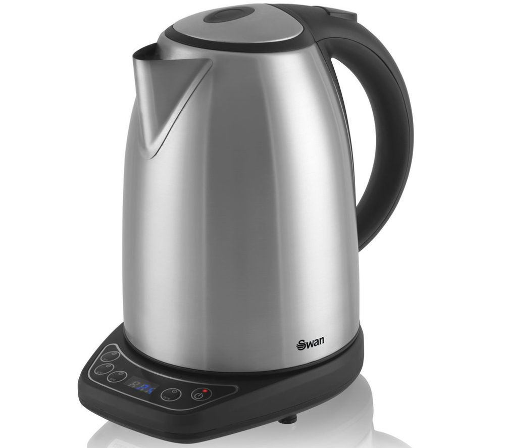 SWAN  Temperature Controlled SK25040N Jug Kettle  Stainless Steel Stainless Steel