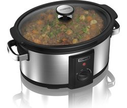 TOWER T16011 Slow Cooker - Stainless Steel