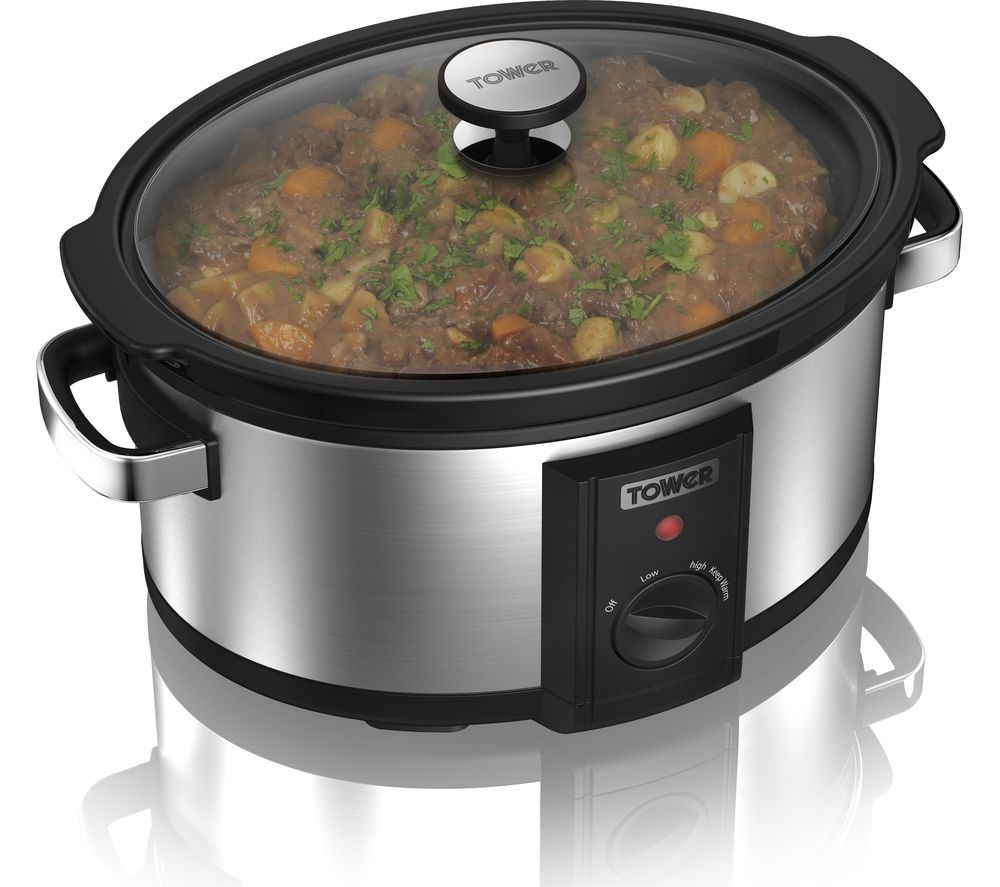 buy tower t16011 slow cooker stainless steel free. Black Bedroom Furniture Sets. Home Design Ideas