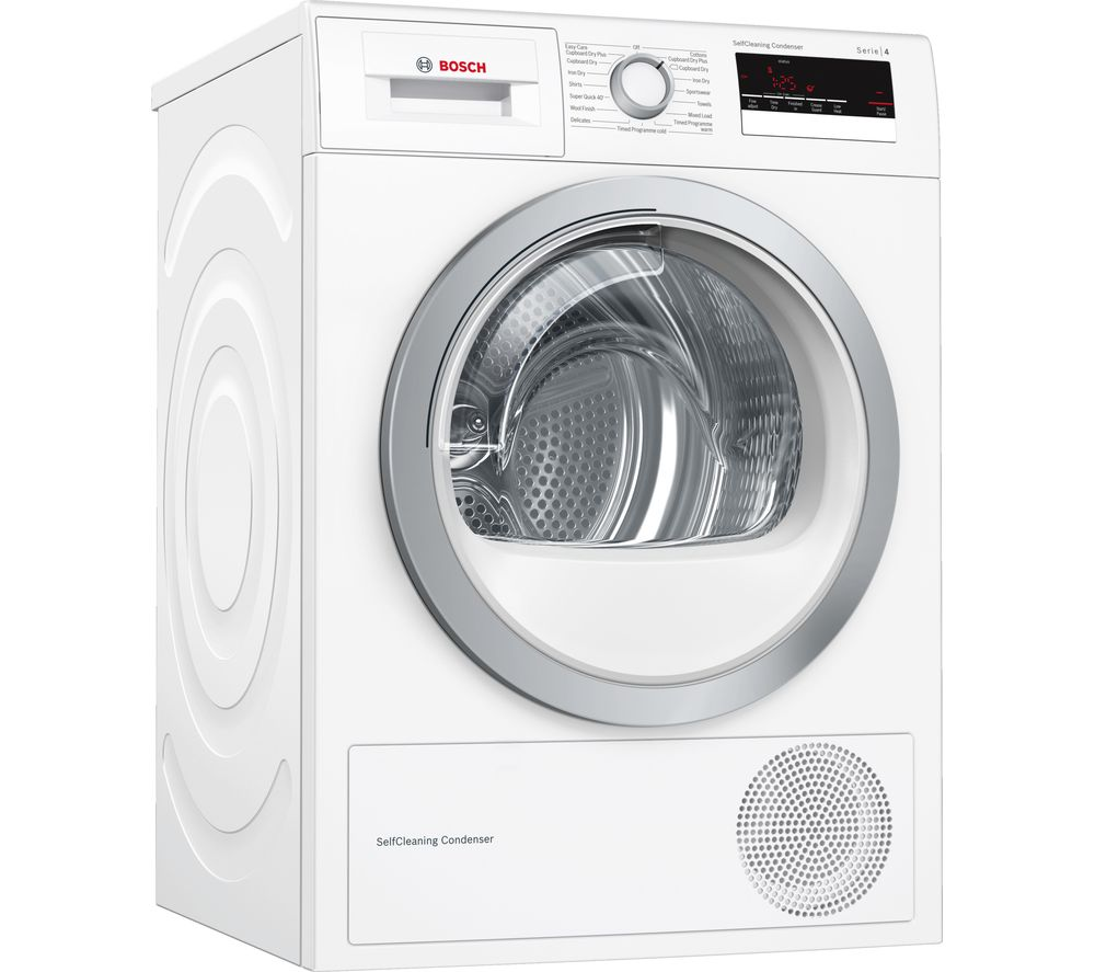 buy bosch serie 4 wtm85230gb 8 kg condenser tumble dryer white free delivery currys. Black Bedroom Furniture Sets. Home Design Ideas