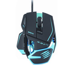 MAD CATZ R.A.T. TE Laser Gaming Mouse - Black & Blue