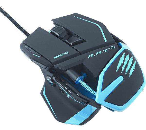 MAD CATZ R.A.T. TE Laser Gaming Mouse - Black & Blue Deals | PC World