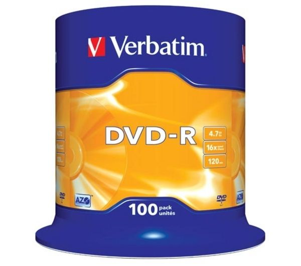 VERBATIM 16x Speed DVD-R Recordable DVDs
