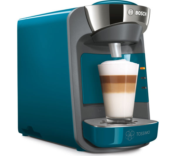 Bosch Tassimo Coffee Maker T Discs : Buy TASSIMO by Bosch Suny TAS3205GB Hot Drinks Machine - Pacific Blue + Costa Cappuccino T Discs ...