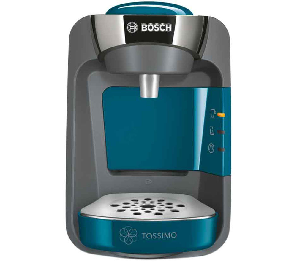 BOSCH  Tassimo Suny TAS3205GB Hot Drinks Machine - Pacific Blue +  Costa Latte T Discs - Pack of 8