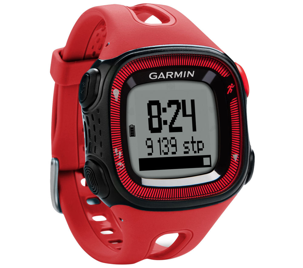 Garmin Forerunner 15 GPS Running Watch with Heart-rate Monitor - Red & Black, Red
