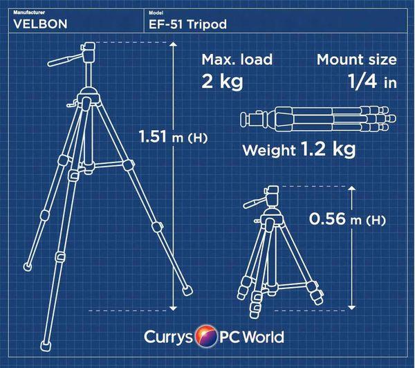 Image of VELBON EF-51 Tripod