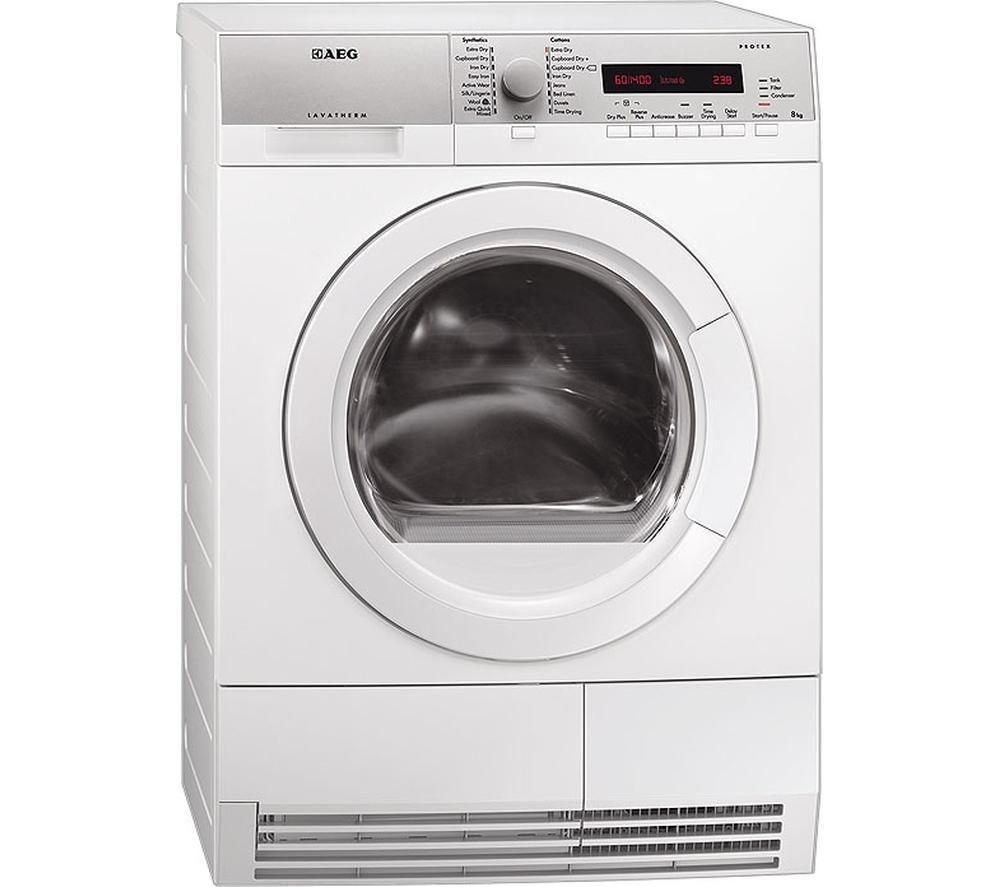 AEG  T76385AH3 Heat Pump Tumble Dryer - White +  SMS40T32GB Full-size Dishwasher - White