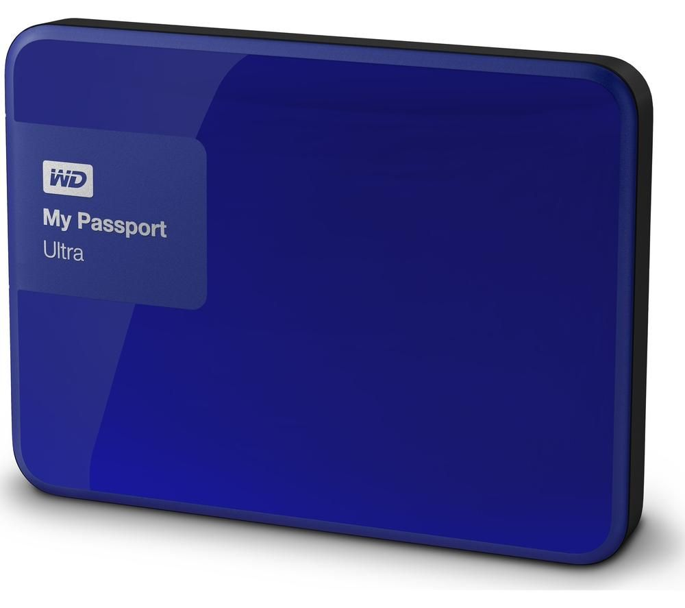 WD My Passport Ultra Exclusive Portable Hard Drive - 1 TB, Noble Blue