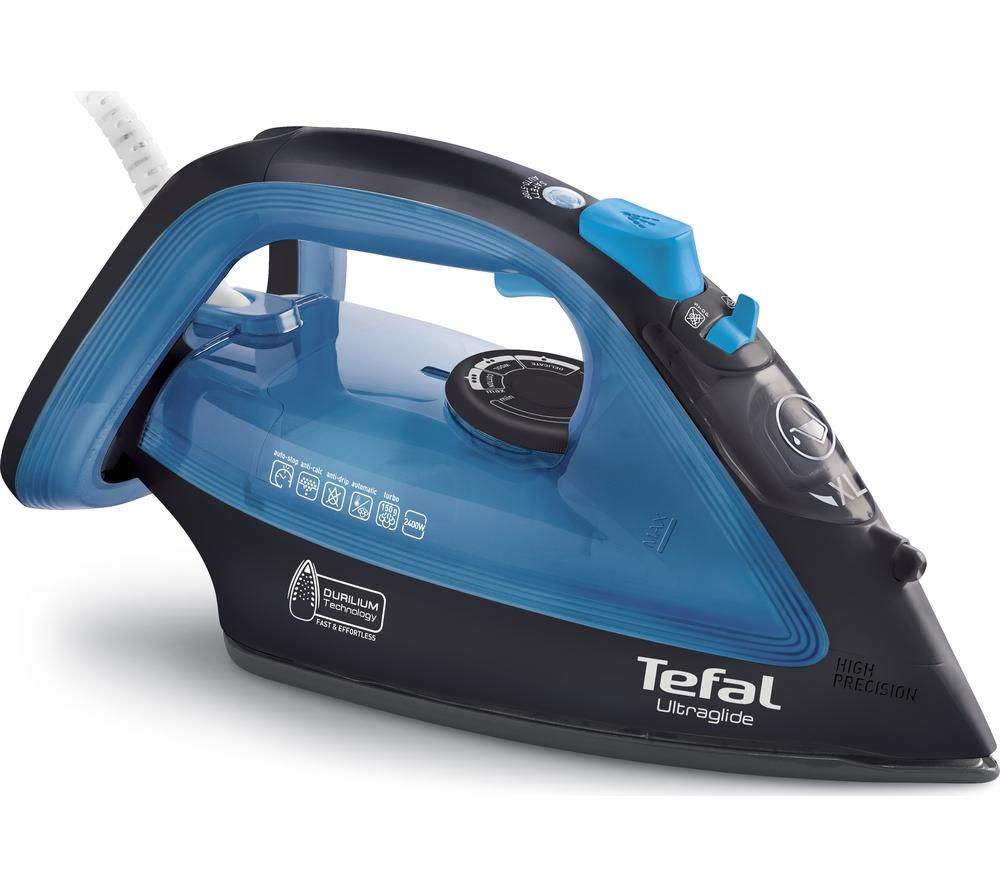 TEFAL  Ultraglide FV4043 Steam Iron  Black & Blue Black