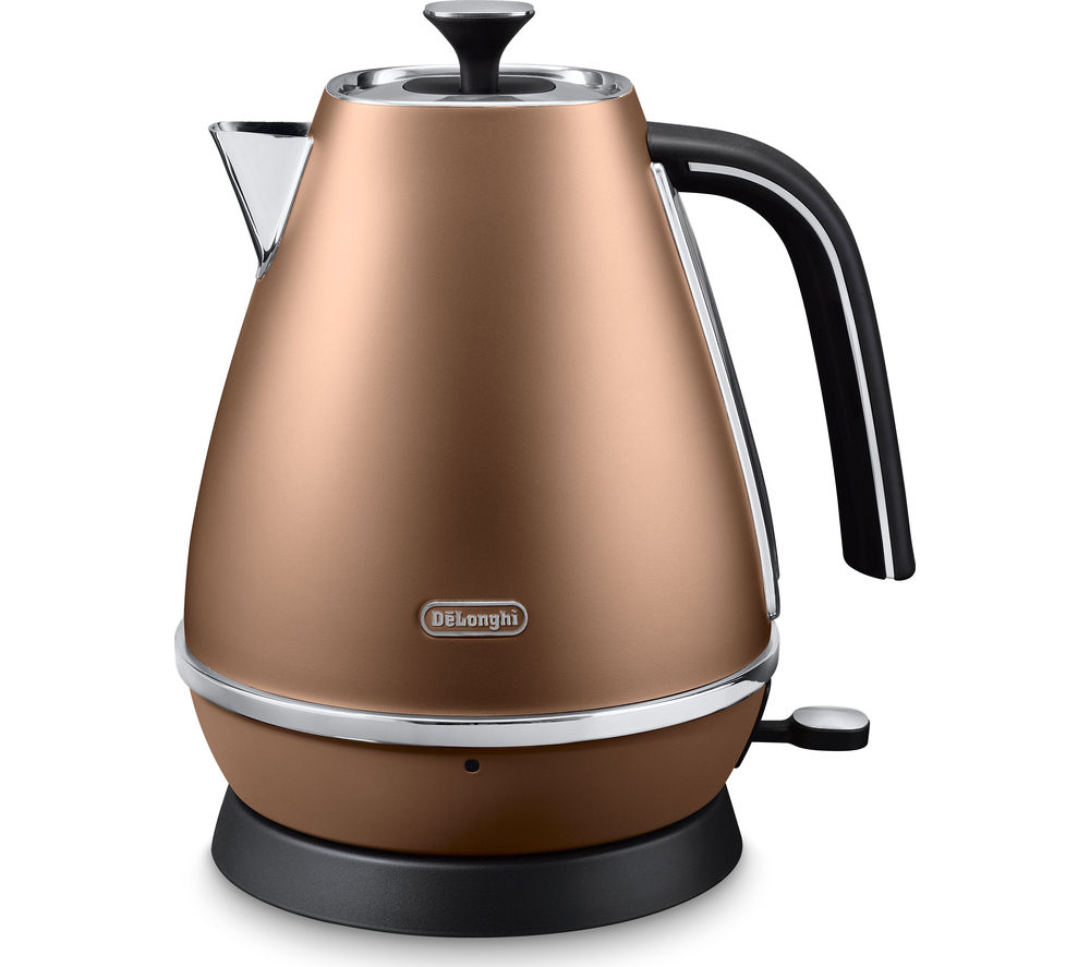 DELONGHI  Distinta KBI3001.CP Jug Kettle – Copper +  Distinta CTI4003.CP 4-Slice Toaster - Copper