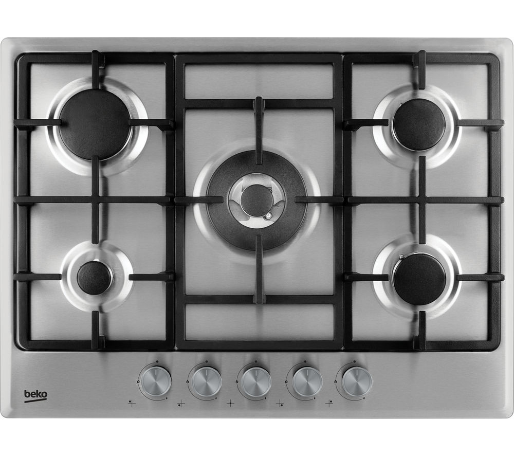 BEKO HCMW75225SX Gas Hob - Stainless Steel + Select HCB63744BX Chimney Cooker Hood - Stainless Steel