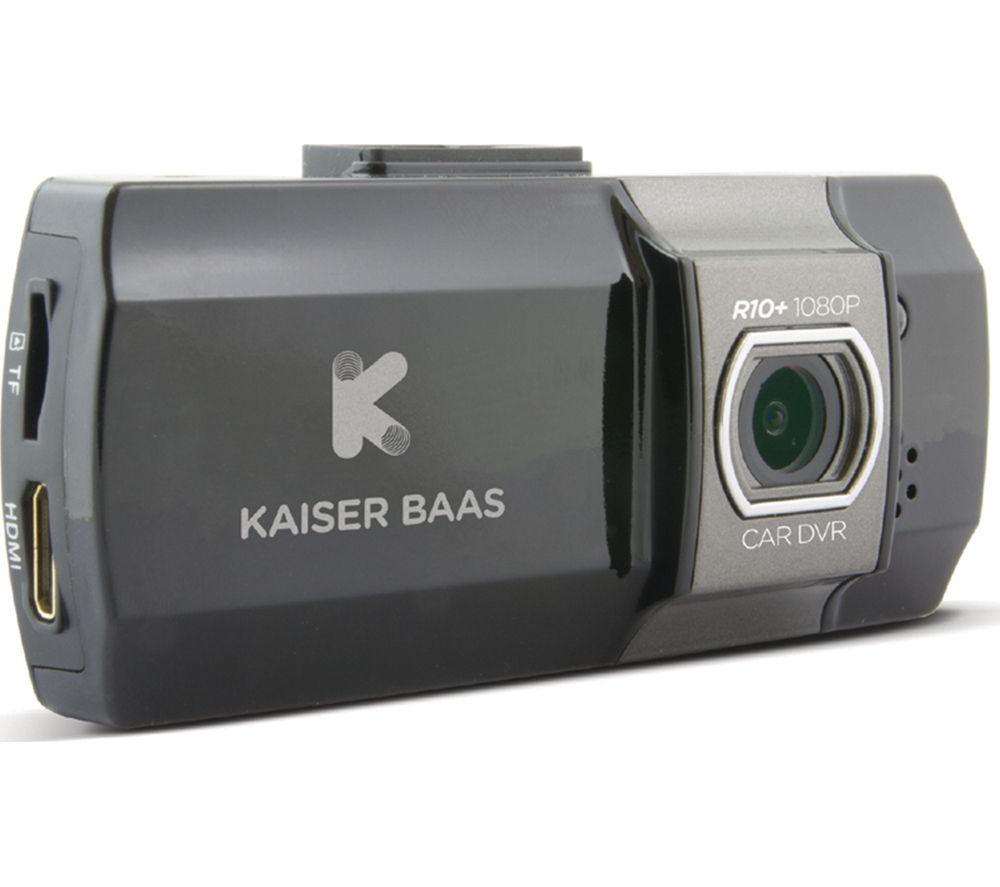 KAISER BAAS R10+ Dash Cam - Black + Ultra Performance Class 10 microSD Memory Card - 16 GB