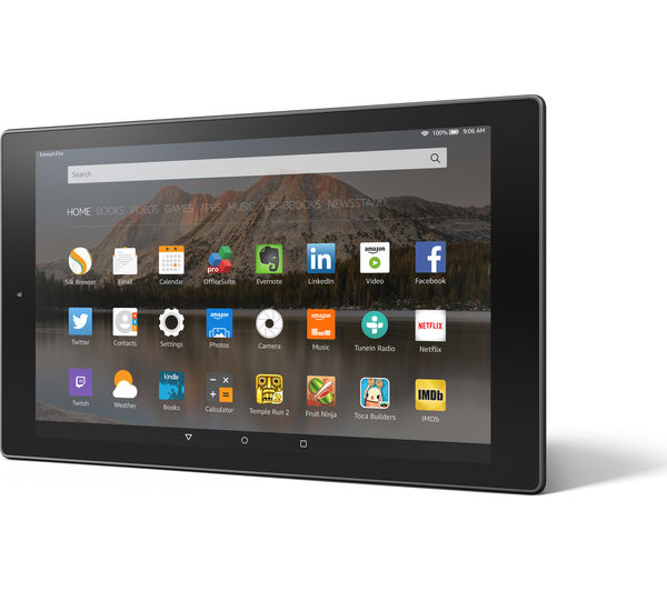"""Image of AMAZON Fire HD 10.1"""" Tablet - 16 GB, Black"""