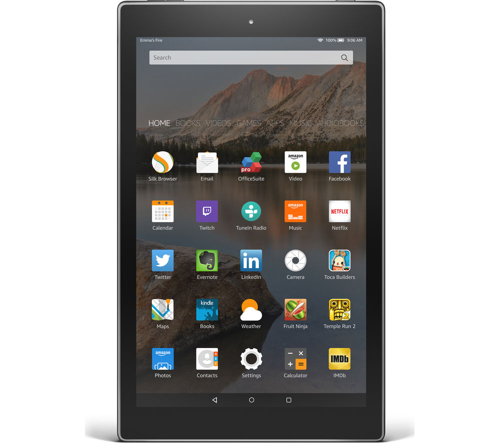 "Image of Amazon Fire HD 10.1"" Tablet - 16 GB, Black, Black"