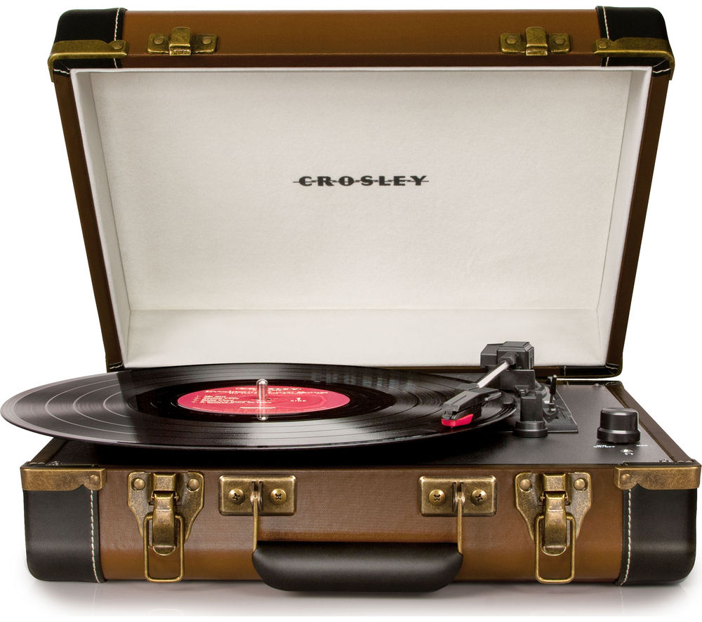 Click to view more of CROSLEY  Executive Portable USB Turntable - Brown, Brown