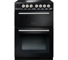 RANGEMASTER Arleston 60 cm Electric Ceramic Cooker - Black & Chrome