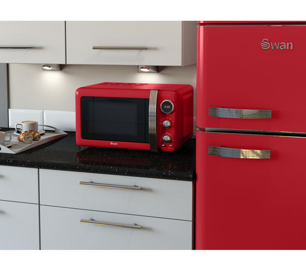 Kitchen Appliance Accessories: Buy SWAN Retro Digital SM22030RN Solo Microwave