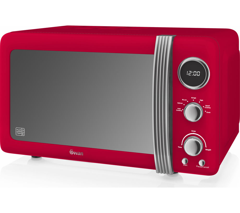 Buy Swan Retro Digital Sm22030rn Solo Microwave Red
